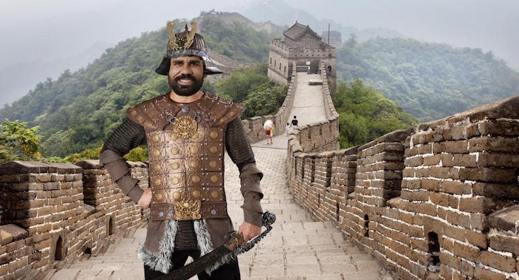 Costa on The Great Wall