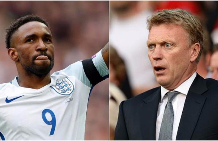 Jermain Defoe and Moyes