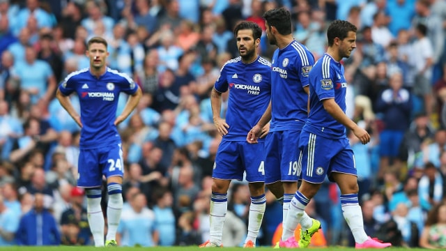 Chelsea players disappointed