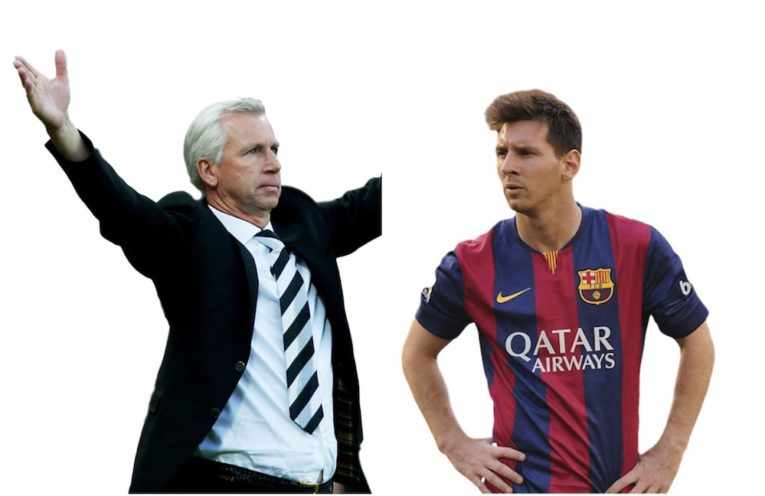 Alan Pardew and Messi