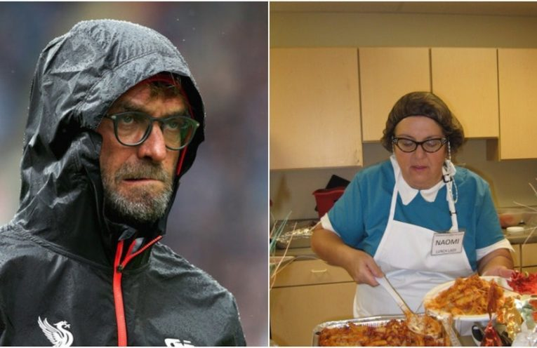 Klopp and Lunch Lady Naomi