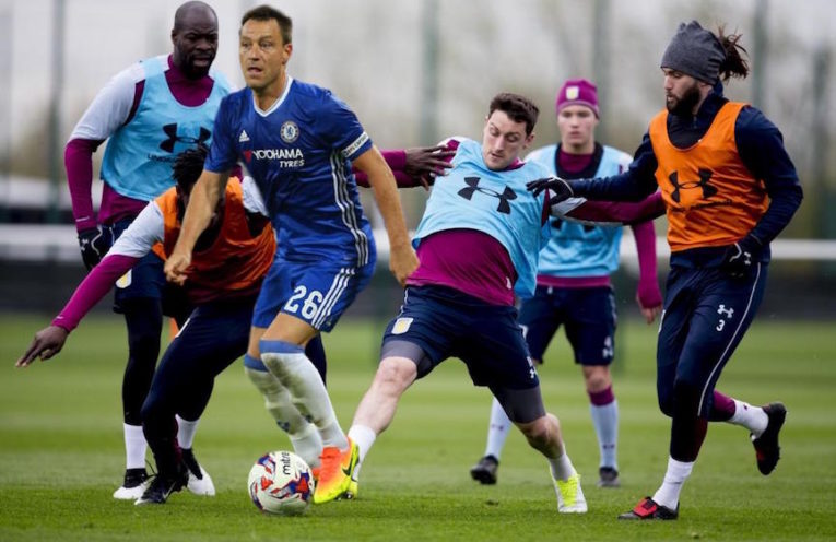 John Terry Training with Villa